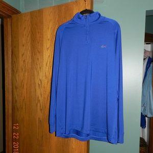 Greg Norman 1/4 Zip Royal Blue Poly/Spandex